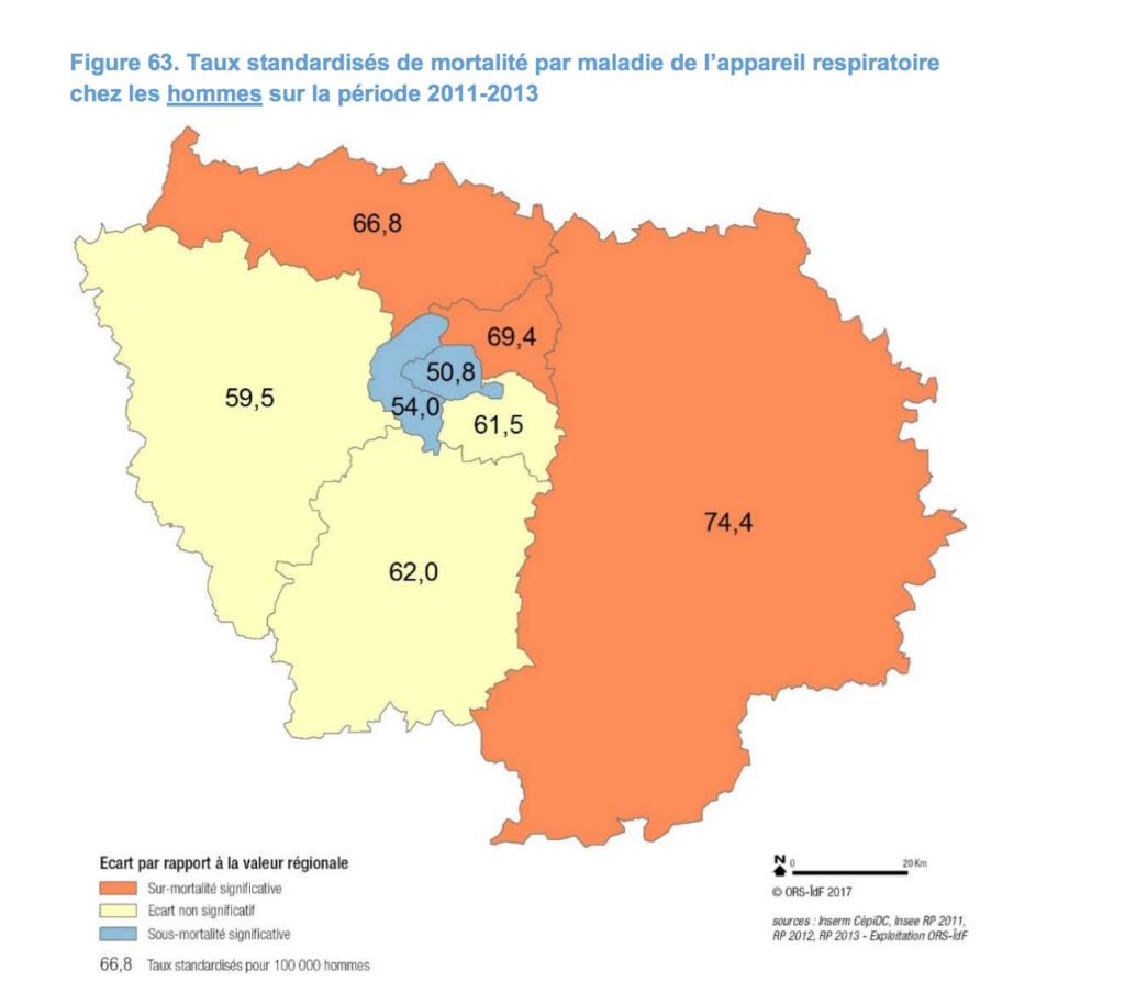 Santé publique en Île-de-France : le Nord et l'Est impactés
