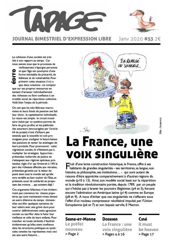 Tapage 53 : La France, une voix singulière